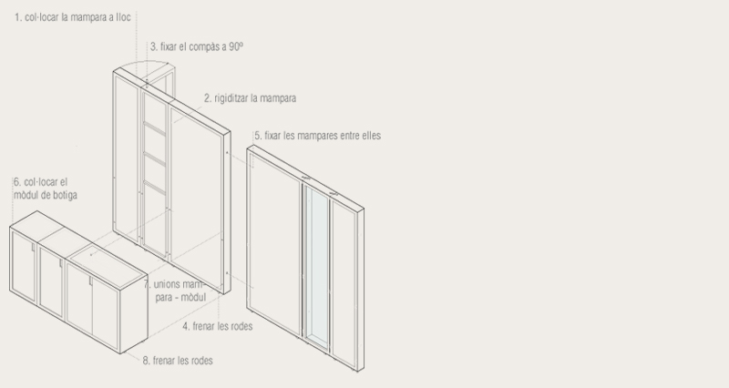 axonometric view. assembly