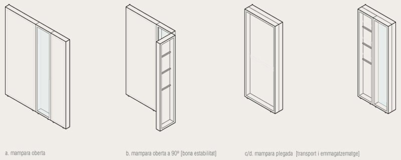 axonometric view. screen module